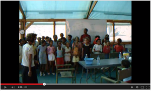 Watch schoolchildren dance and sing during their time at NaDEET Centre