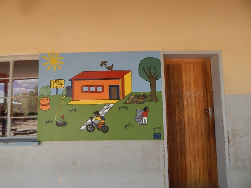 Clean school mural at WJD Cloete JSS