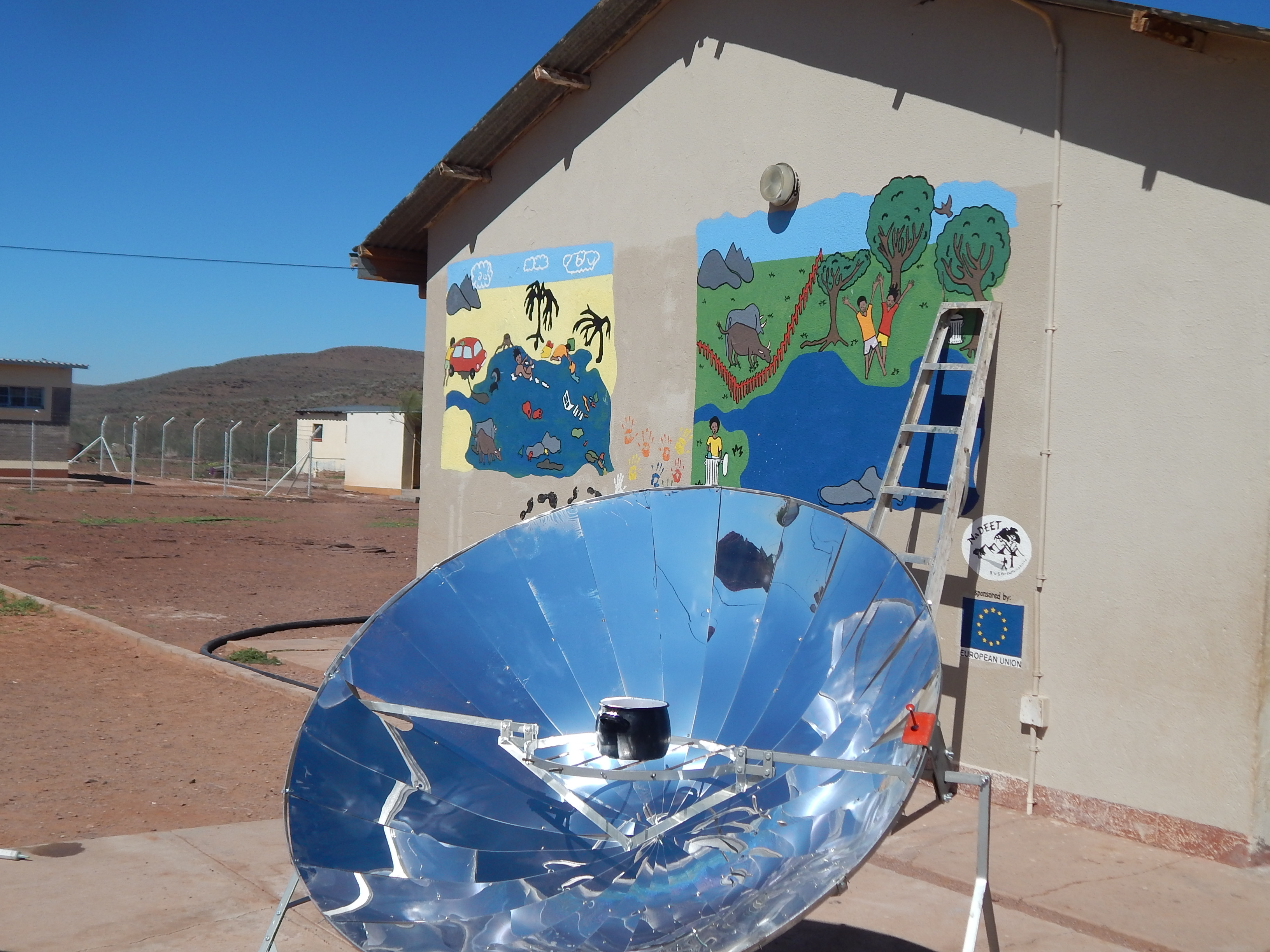 Solar cooking and water awreness mural at Edward Frederick PS