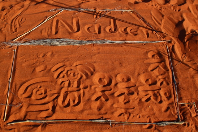 Learners create dune art