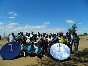 Group with solar cookers