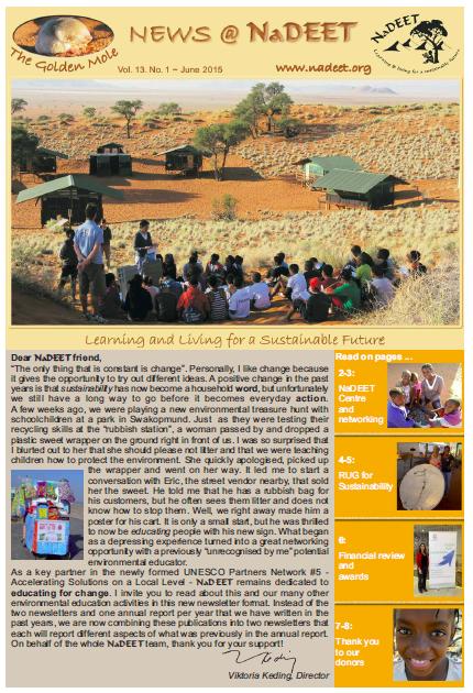 NaDEET Newsletter
